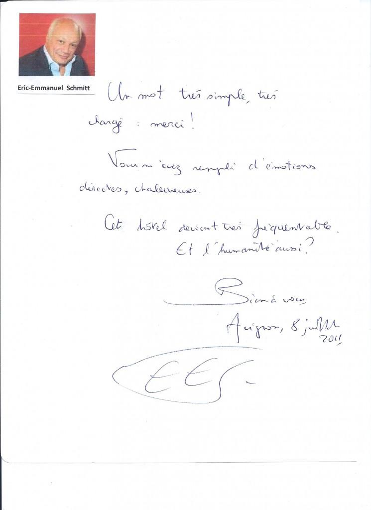 Eric-Emmanuel Schmitt-Avignon 2011