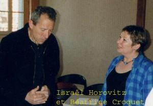 ISRAËL HOROVITZ ET BEATRICE CROQUET AVEC LEGENDE